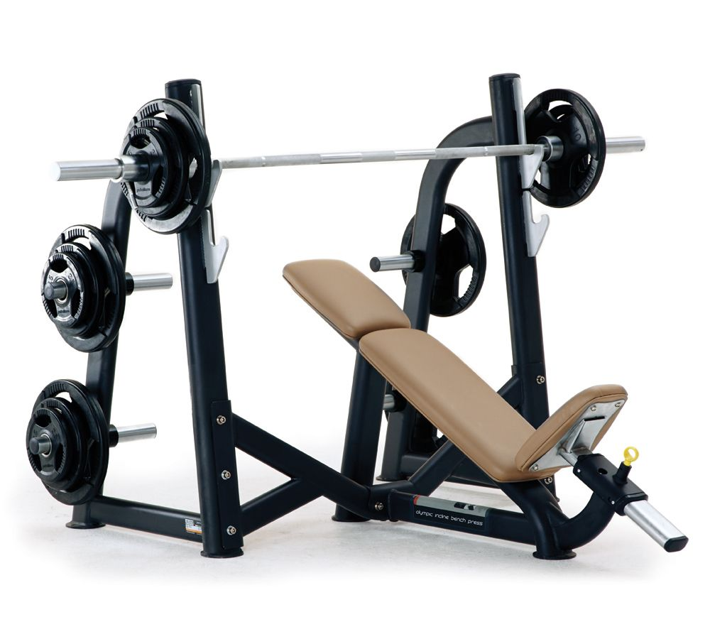 Pulse Fitness Origin Olympic Incline Bench Press (with ...
